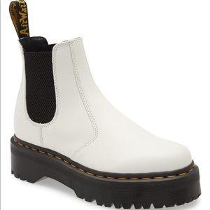 Dr. Martens quad platform Chelsea ankle boots 7